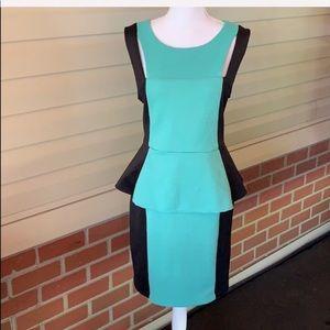 Bisou Bisou Scuba Dress blue and black size 16
